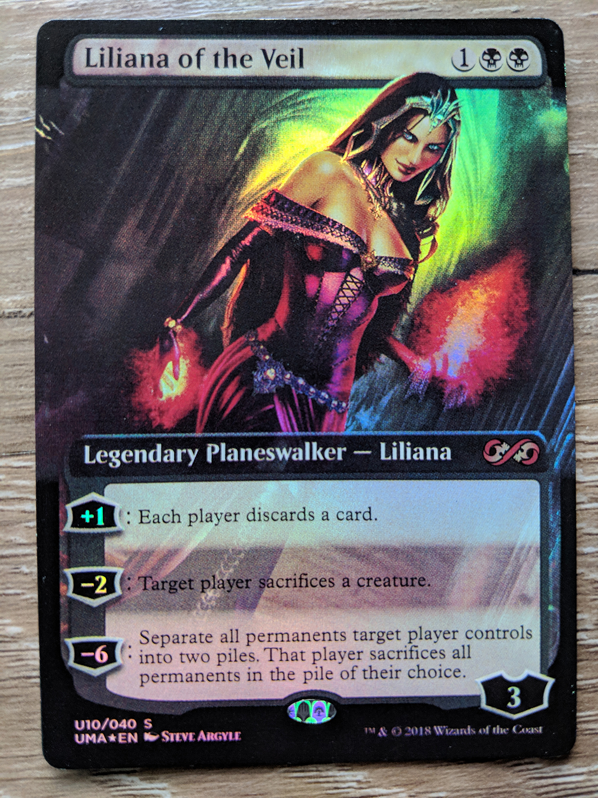 Foil Liliana Of The Veil Ultimate Masters Box Topper Planeswalker Magic Mtg Magic The Gathering Toys Hobbies