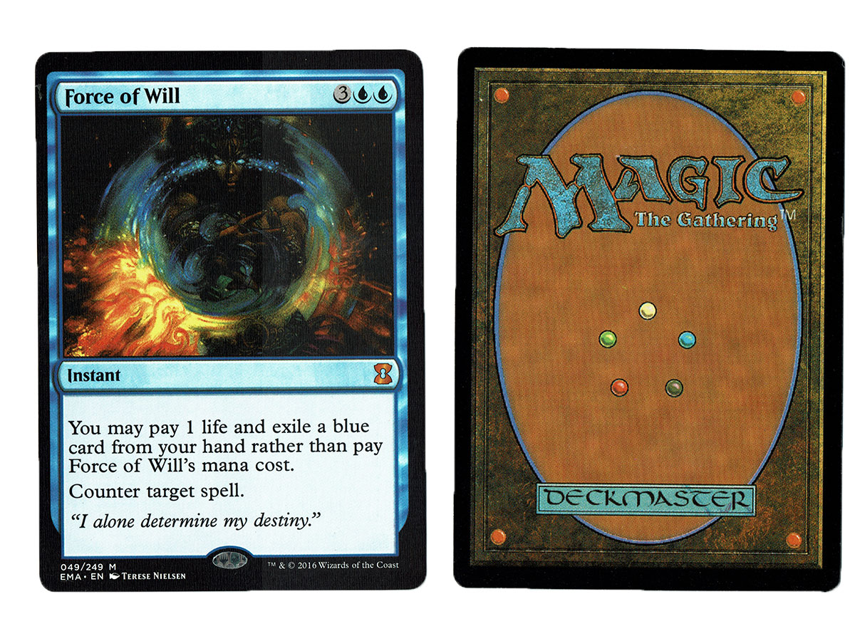 reputable site 38274 ef4e2 Force of Will from Eternal Masters Magic the Gathering MTG Proxy Card