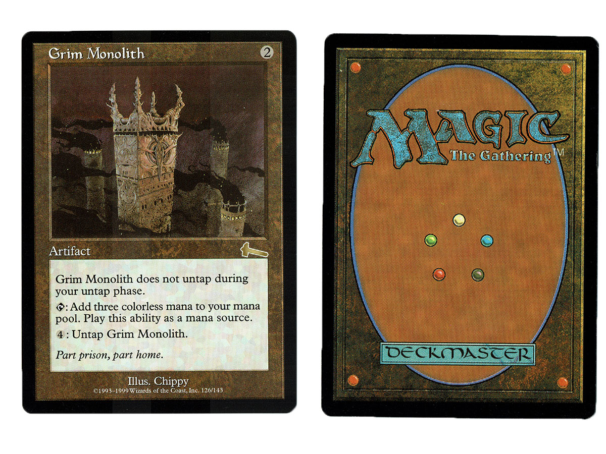 grim monolith from urza s legacy magic the gathering mtg proxy card grim monolith from urza s legacy magic the gathering mtg proxy card