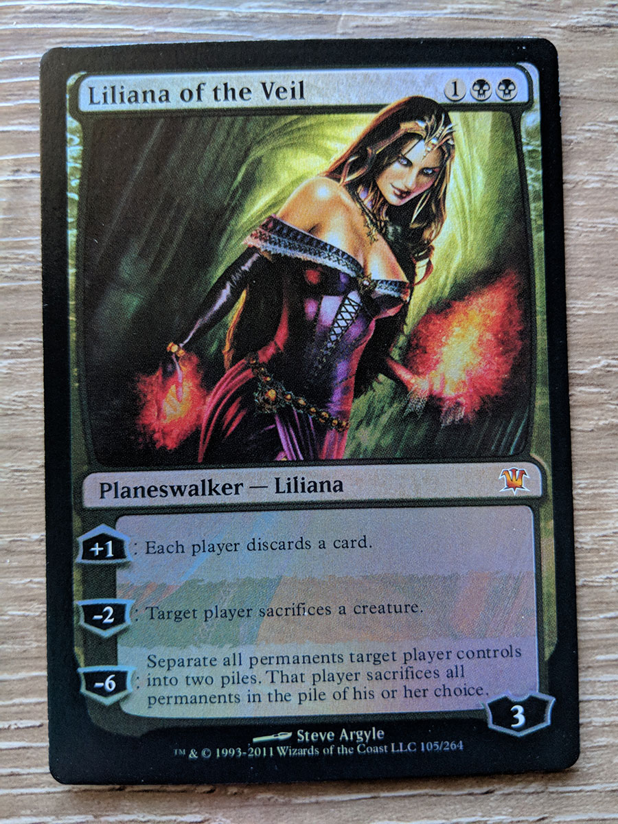 photo about Mtg Printable Proxies identified as FOIL Liliana of the Veil proxy Magic the Amassing MTG card!