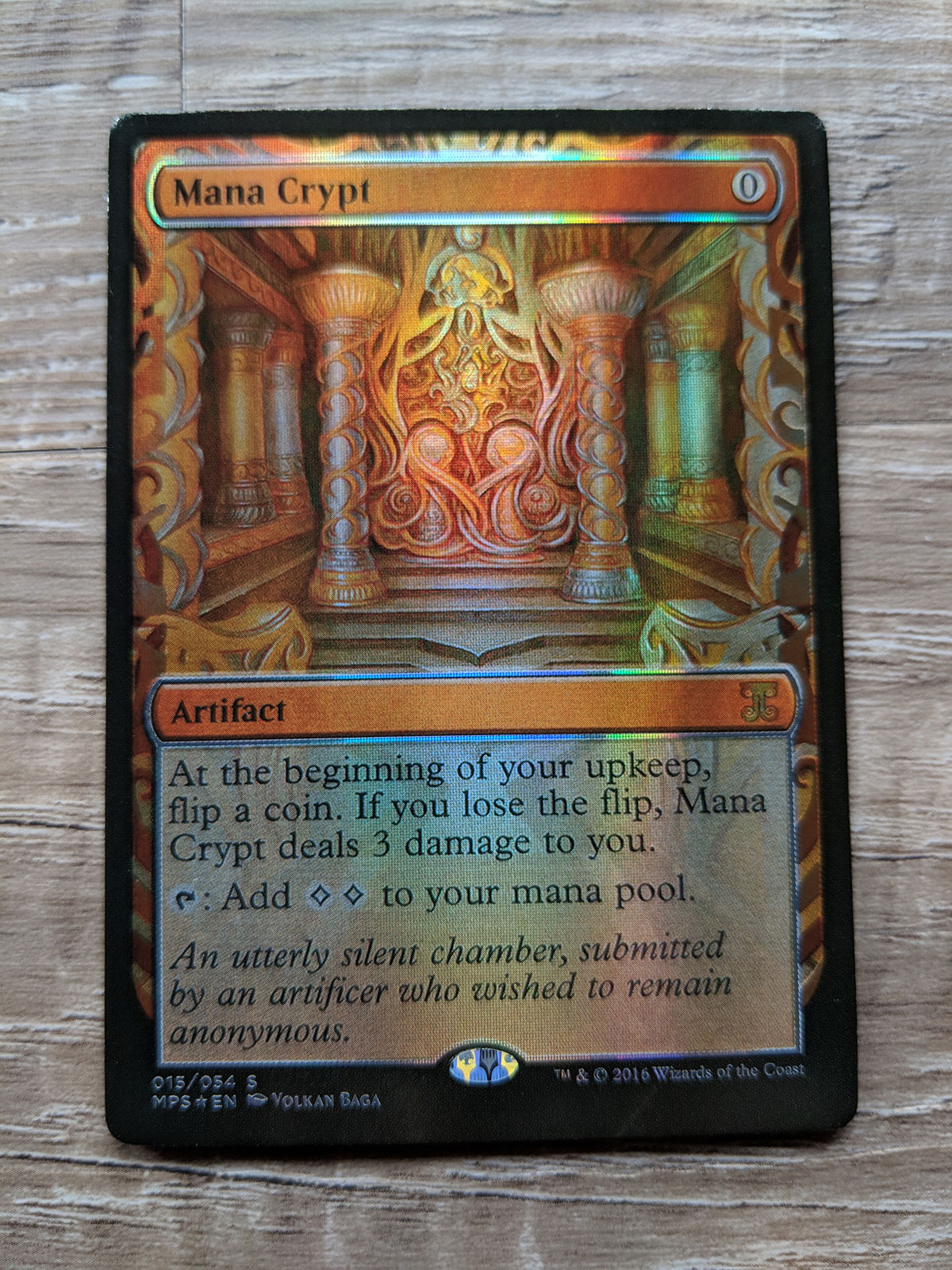 picture about Printable Mtg Proxies named FOIL Mana Crypt Kaladesh Creation Magic the Accumulating MTG Proxy Card