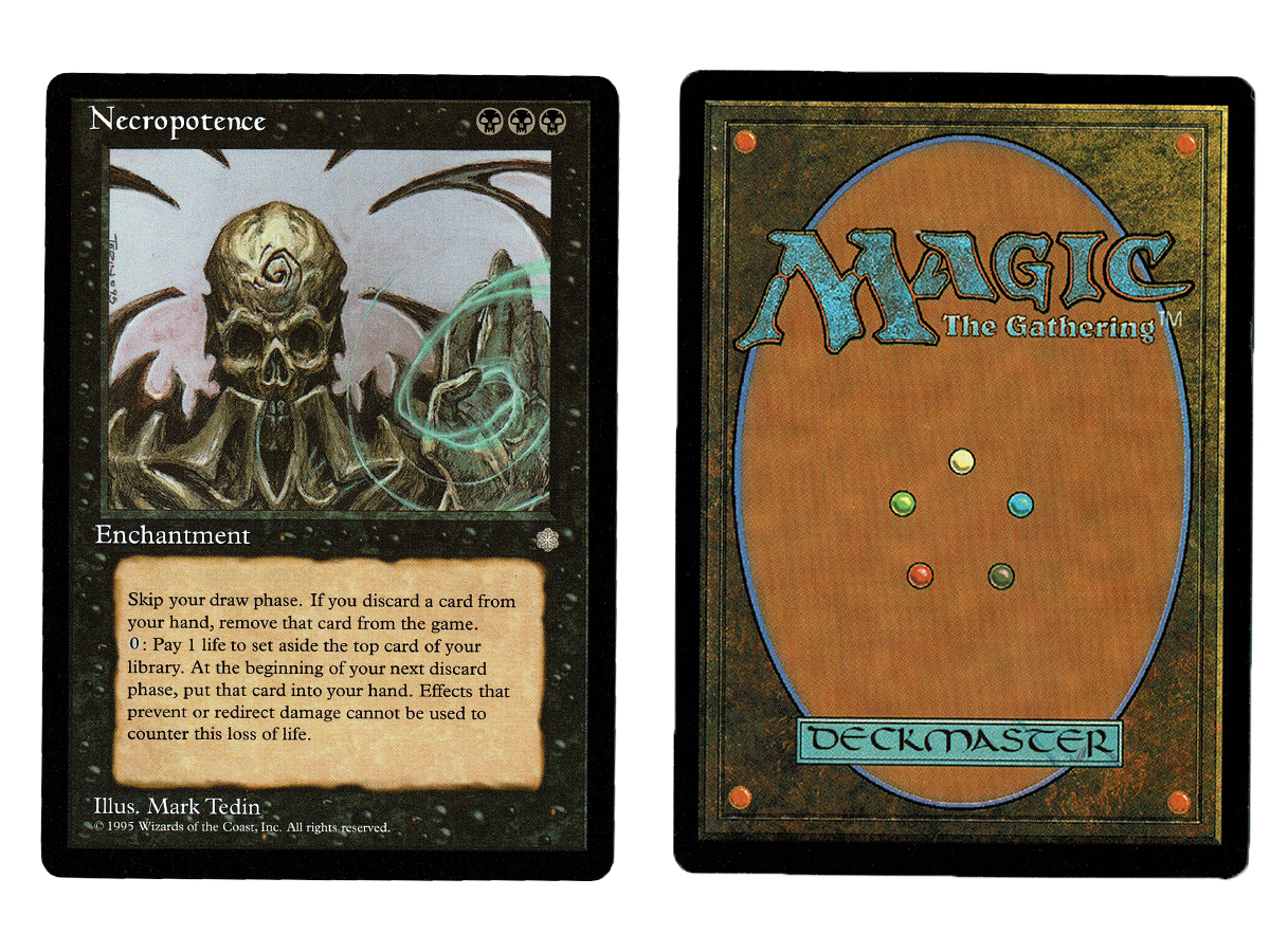 Necropotence Ice Age PLD Black Rare MAGIC THE GATHERING MTG CARD ABUGames