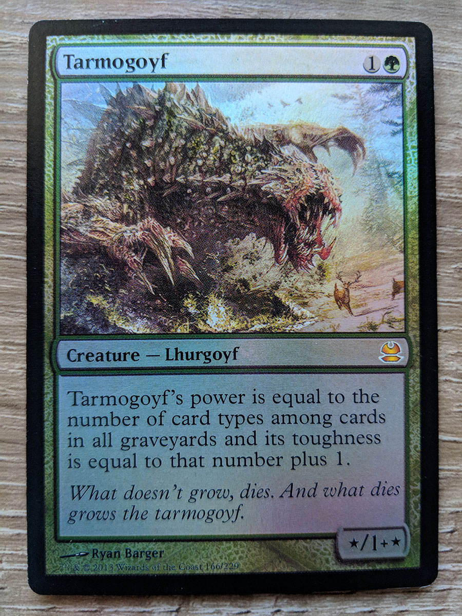 photo regarding Mtg Printable Proxies identified as FOIL Tarmogoyf proxy Magic the Collecting MTG card!